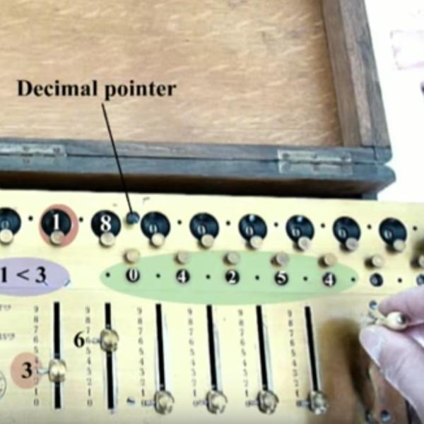 Aritmometro Payen - divisione e radice quadrata