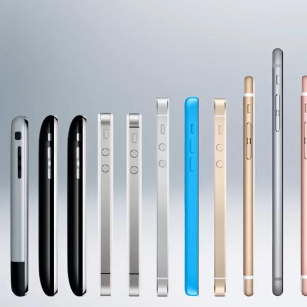 Evoluzione iPhone 2007-2018