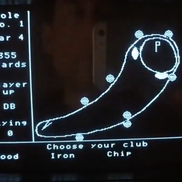 HP-85 Golfer Game from Game Pack 2