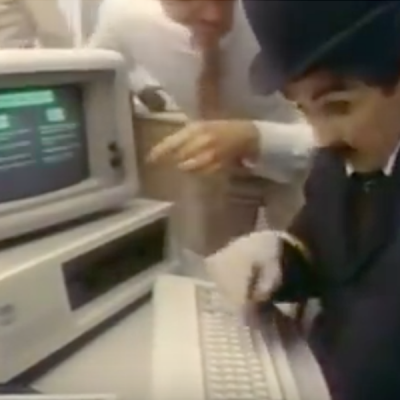 IBM'S PC Ad 1980s