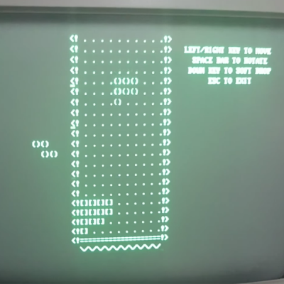 Original Tetris Dos port on Olivetti M24