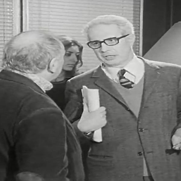 Pietro Grossi intervistato da Vittorio Gelmetti sulla computer music per trasmissione Rai anni '70